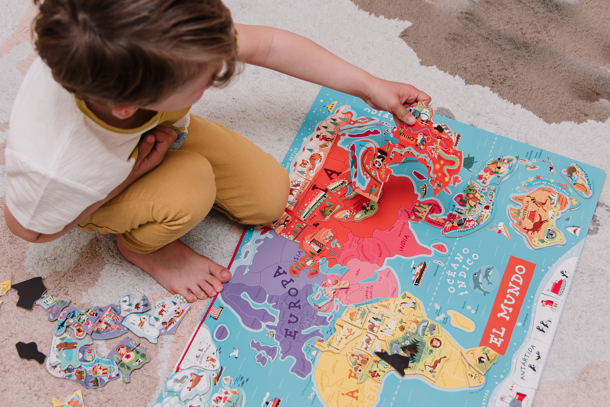Lista Proyecto Montessori: Países el Mundo